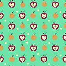 Apples Oranges and Star Pattern by SaradaBoru