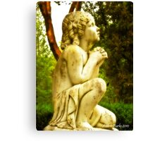 Prayer on Bended Knee Canvas Print