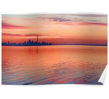 Brilliant Colorful Morning - Toronto Skyline Impressions Poster