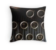 A..E..U... Throw Pillow