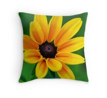 Yellow Daisy Flower Throw Pillow