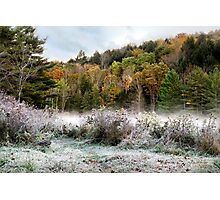 Morning Frost Hillside Landscape Photographic Print