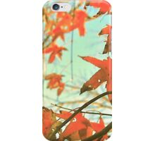 Autumn Dance of Red Leaves iPhone Case/Skin