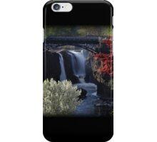 Great Falls Spring Foliage iPhone Case/Skin