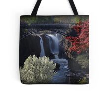 Great Falls Spring Foliage Tote Bag