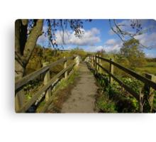 Footbridge to the Dales Canvas Print