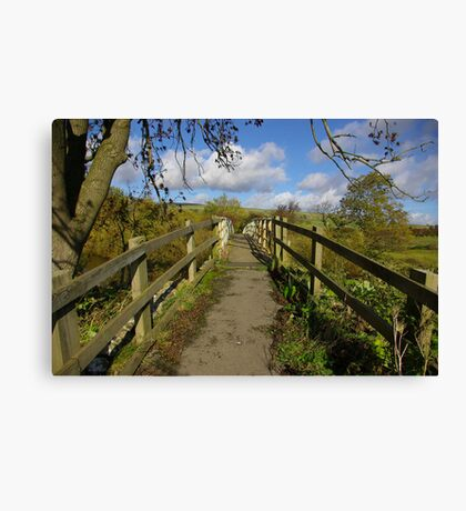 Footbridge to the Dales Canvas Print