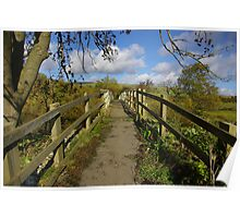 Footbridge to the Dales Poster