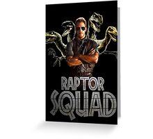 Raptor Squad Metal Font - Trainer Greeting Card