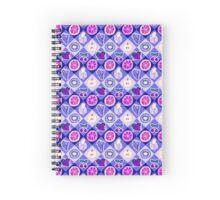 Purple Fruit Diamond Pattern Spiral Notebook