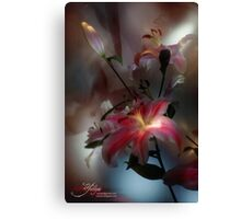 Lily, Flashlight and Bulb Canvas Print