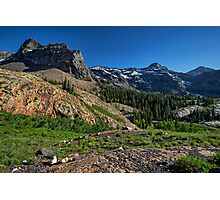 Mountains above Lake Blanche in Utah Photographic Print