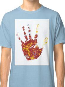 hand print design  Classic T-Shirt