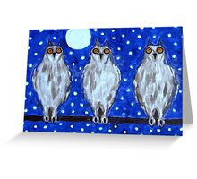 THE OWLS Greeting Card