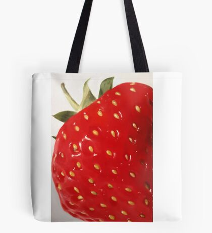 Lovely Big Strawberry Tote Bag