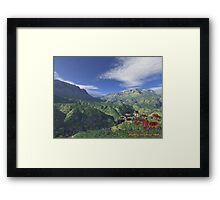 Humble Valley: REALISTIC SCENE Framed Print