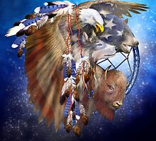 Dream Catcher - Freedom Lives by Carol  Cavalaris