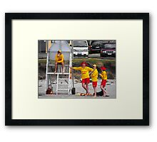 The watchers of the swimmers Framed Print