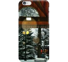 White Bear Lake, MN: Railroad Park in winter iPhone Case/Skin