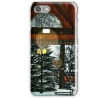 White Bear Lake, MN: Railroad Park in winter iPhone Case/Skin