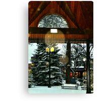 White Bear Lake, MN: Railroad Park in winter Canvas Print