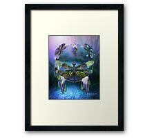 Dream Catcher - Spirit Of The Dragonfly Framed Print
