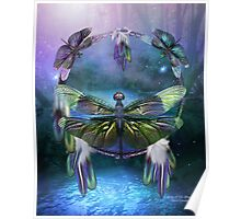 Dream Catcher - Spirit Of The Dragonfly Poster