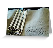 fork and napkin Greeting Card