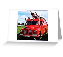 """"""" A War Time Fire Engine"""" Greeting Card"""