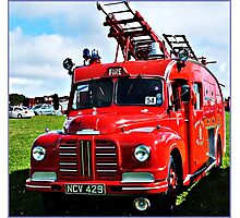 """ A War Time Fire Engine"" Photographic Print"