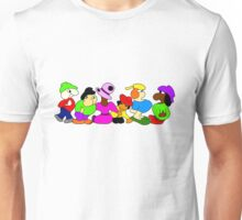Funny People in a row Unisex T-Shirt