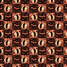 Halloween Bees Checkered Pattern by SaradaBoru