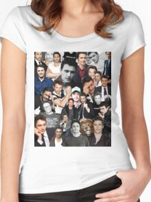 James Franco Collage Women's Fitted Scoop T-Shirt