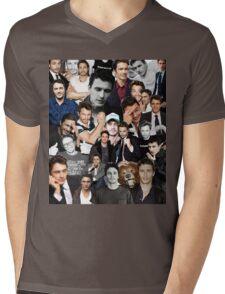James Franco Collage Mens V-Neck T-Shirt