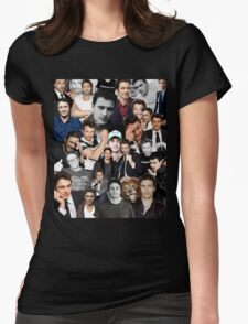 James Franco Collage Womens Fitted T-Shirt