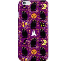 Cute Purple Halloween Pattern iPhone Case/Skin