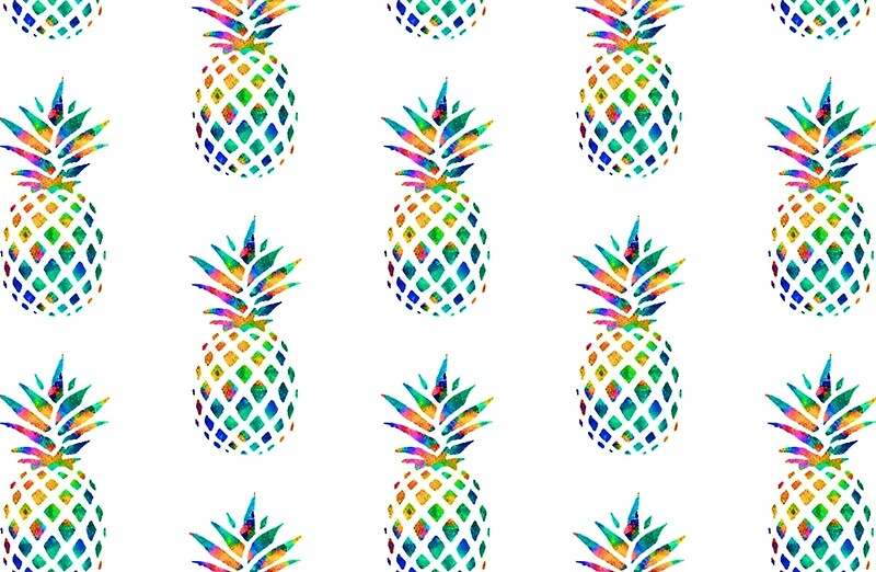 Quot Rainbow Pineapple Quot Laptop Skins By Erinaugusta Redbubble