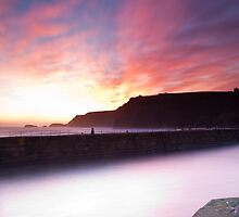 Whitby Sunrise. by Carl Mickleburgh