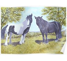Horses Marje and Tia Poster