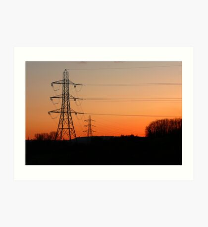 Electric Sunset Art Print
