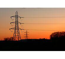 Electric Sunset Photographic Print
