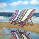 Deck Chairs  by gillsart