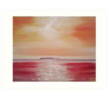 'Sark Sunset' Art Print