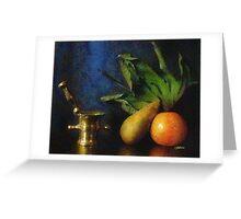 Mortar and Fruit - Pastels Greeting Card