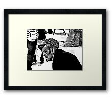 Watching the world go by ....Spain Framed Print