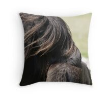 Shetland Mare and Foal Throw Pillow