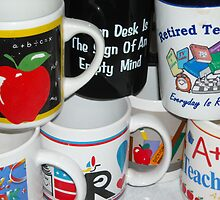 Retired Teacher Has Many Mugs by debbiedoda