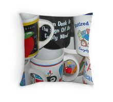 Retired Teacher Has Many Mugs Throw Pillow