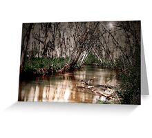 Mystical Mist and a Magical Moon  Greeting Card