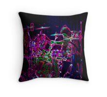 Laser Drummer Throw Pillow